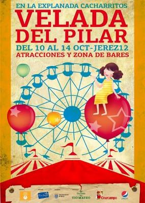 Cartel de la primera edición de la Velada del Pilar que se celebrará en Jerez