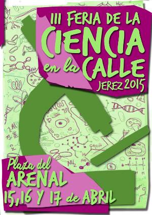 Cartel de la tercera Feria de la Ciencia en la calle