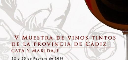 Cartel de la sexta edición de la Muestra de Vinos Tintos en Cádiz