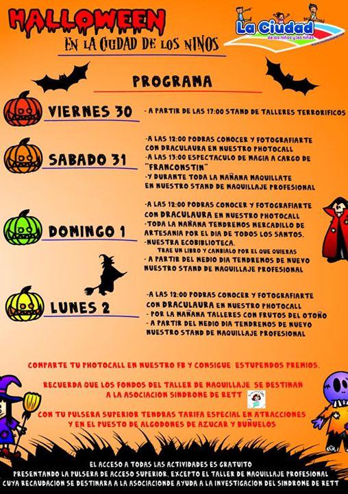 Actividades de Halloween 2015 en la Ciudad de los Niños