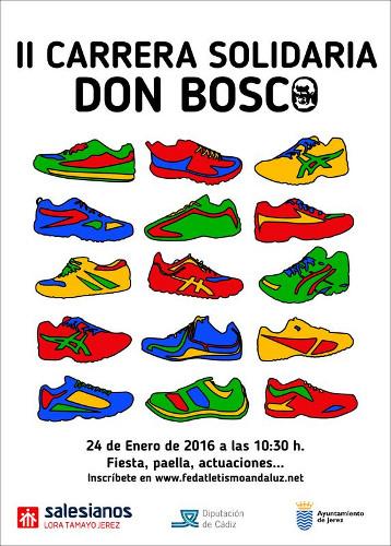 Cartel de la segunda Carrera Solidario Don Bosco