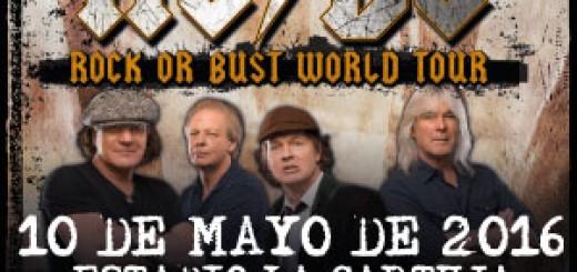 Cartel del concierto de AC/DC en La Cartuja de Sevilla
