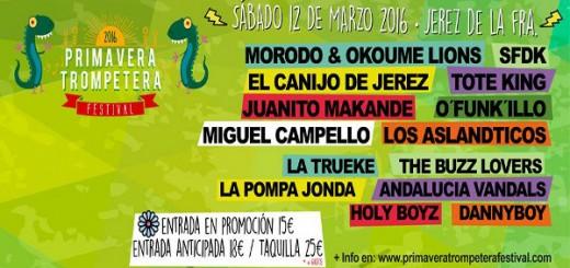 Cartel del Primavera Trompetera Festival 2016