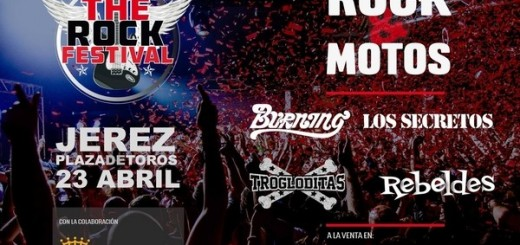Cartel del The Rock Festival en Jerez 2016