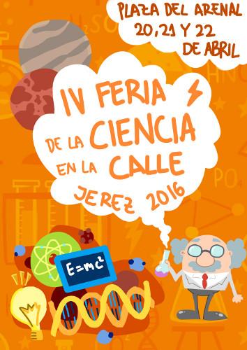 Cartel de la cuarta edición de la Feria de la Ciencia en la Calle
