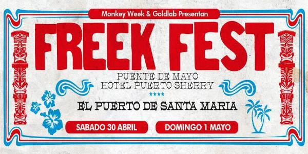 Cartel del Freek Fest 2016, que se celebrará en El Puerto de Santa María