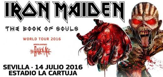 Cartel del concierto de Iron Maiden en Sevilla