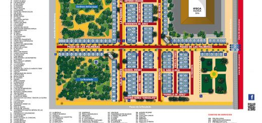 El Plano de Casetas de la Feria de Jerez de este año 2016