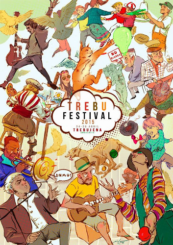 Cartel de la edición de 2016 del festival de música callejero Trebufestival