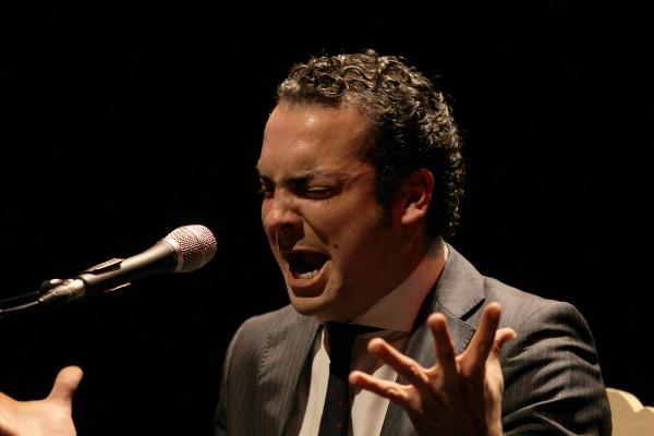 El cantaor Jesús Méndez en acción
