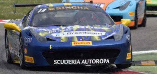 Cartel de la Ferrari Challenge, evento que llega al Circuito de Jerez