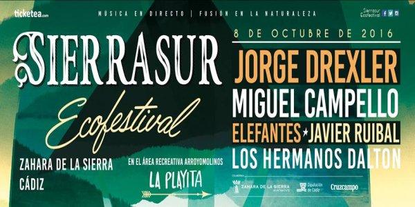 Cartel de un nuevo festival, el Sierrasur Ecofestival