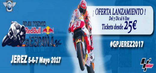 Ya a la venta las entradas para el Gp de Jerez 2017