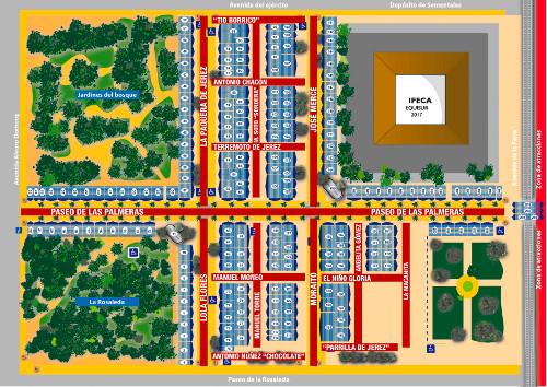 Plano de Casetas de la Feria de Jerez 2017