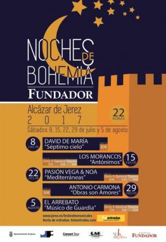 Conciertos del programa Noches de Bohemia 2017 en Jerez