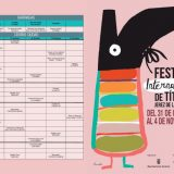 Cartel y programa del XX Festival de Títeres en Jerez
