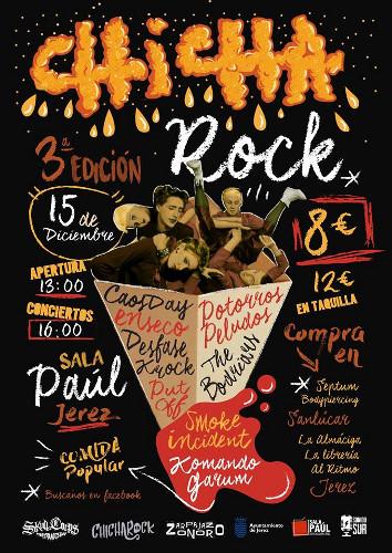 Cartel de la tercera edición del Chicharock en Jerez