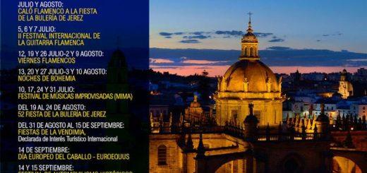 Calendario de eventos en Jerez para el año 2019