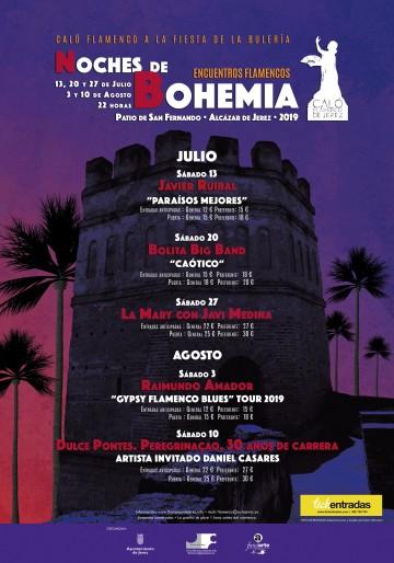 Cartel de la edición de 2019 de Noches de Bohemia