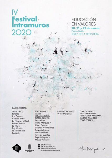 Cartel de la cuarta edición del Festival Intramuros de Jerez
