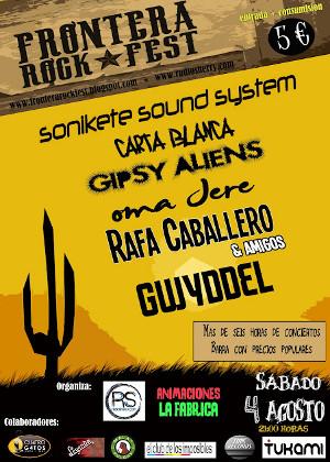 Cartel del Frontera Rock Fest de Jerez 2012