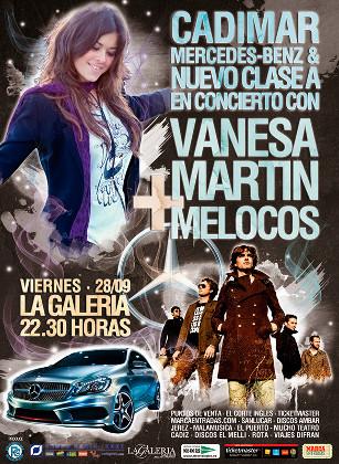 Concierto de Vanesa Martín y Melocos en La Galería, Jerez
