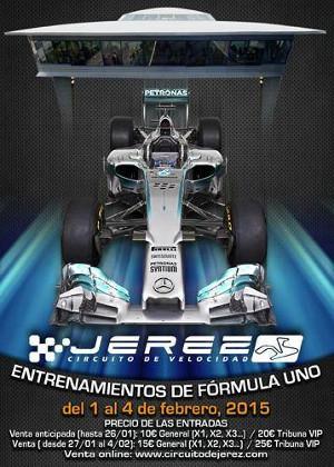 Entrenamientos de F1 en el Circuito de Jerez