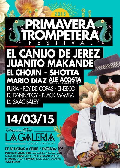 Cartel de la primera edición del Festival Primavera Trompetera