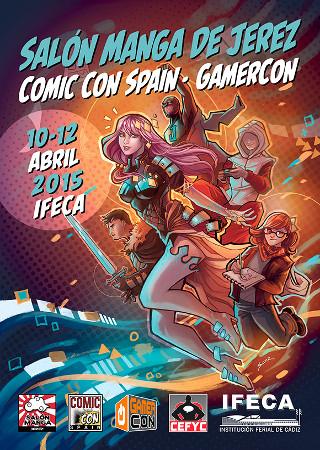 Cartel de la edición de 2015 del Salón Manga