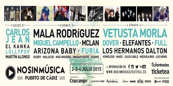 El cartel del No sin Música Festival de 2015