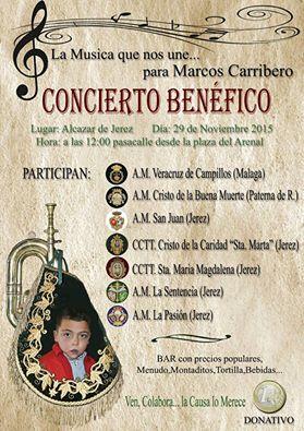 Concierto benéfico de bandas a favor de Marcos Carribero