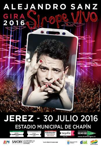 Alejandro Sanz actuará en Jerez en 2016