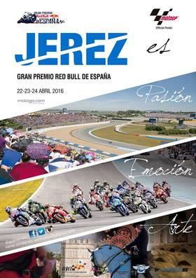 Cartel del Gp de España de motoclismo de 2016