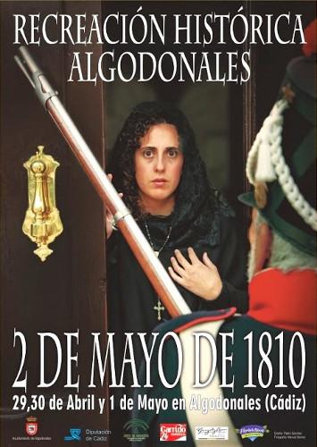 Cartel de las recreaciones históricas de Algodonales