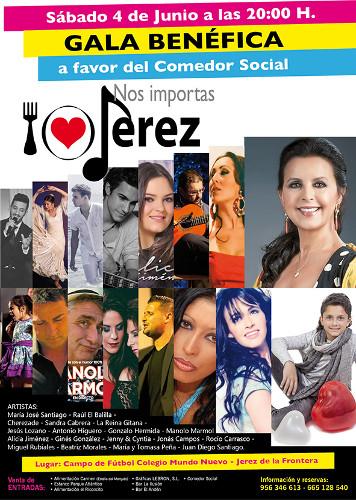 El 4 de junio se celebra en Jerez una gala benéfica a favor del Comedor Social