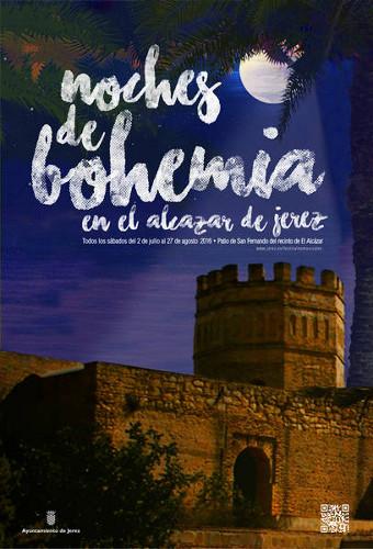 Cartel del ciclo de conciertos Noches de Bohemia 2016 en Jerez