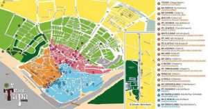 Mapa con las bares de la V Ruta de la Tapa de Conil