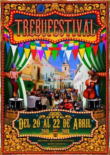 Cartel del Trebufestival 2018, los días 20, 21 y 22 de abril