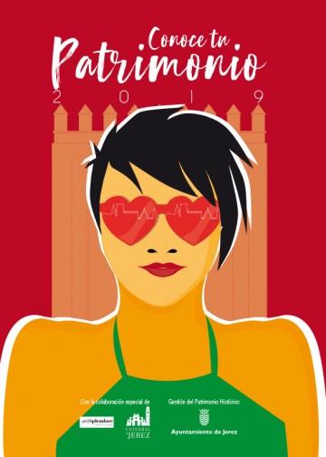 Cartel de la edición de 2019 de Conoce tu Patrimonio, programa de visitas guiadas gratuitas en Jerez