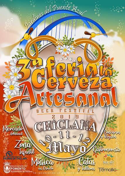 Cartel de la III Feria de la Cerveza Artesanal de Chiclana