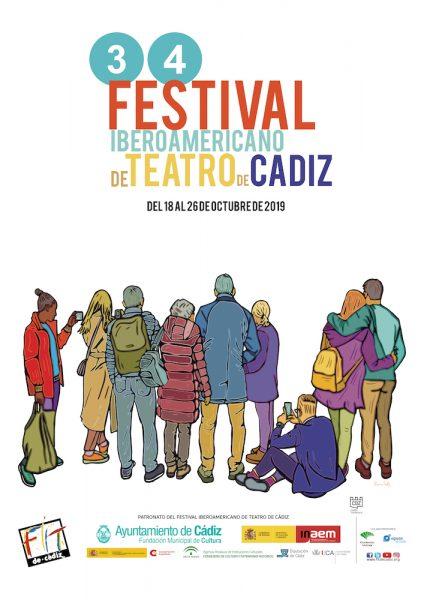 Cartel de la edición 34 del Festival Iberoamericano de Teatro de Cádiz