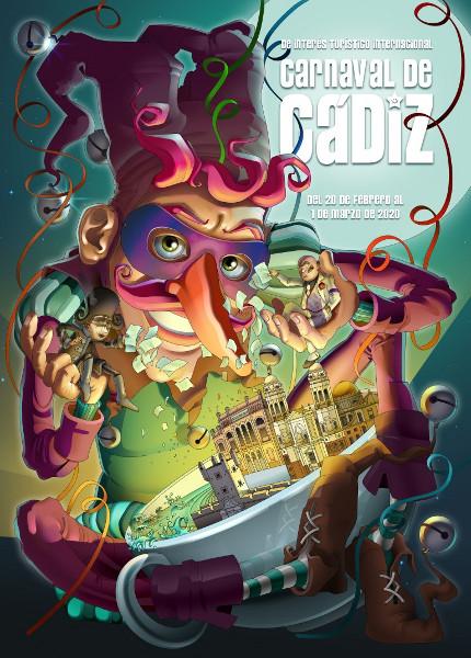 Cartel del Carnaval de Cádiz 2020