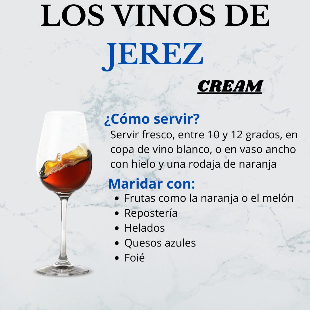 Los vinos de Jerez, el Cream