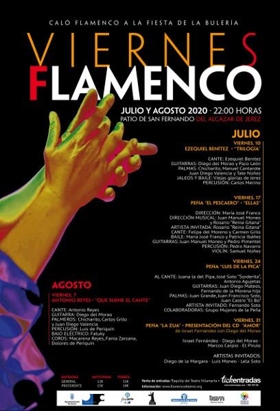 Programa del ciclo Viernes Flamenco 2020