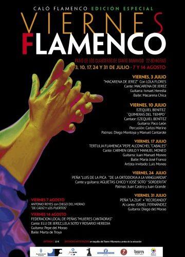 Programa de la edición especial de los Viernes Flamenco 2020
