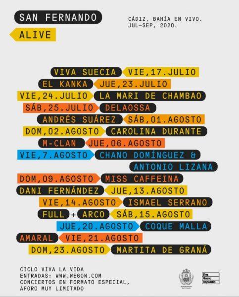 Cartel del Festival Viva la Vida en San Fernando