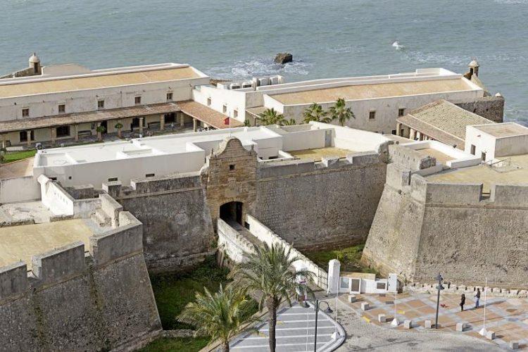Imagen aérea del Castillo de Santa Catalina en Cádiz