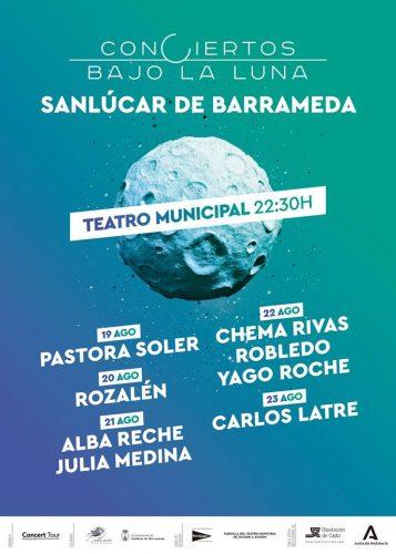 Programa de conciertos para el verano 2020 en Sanlúcar