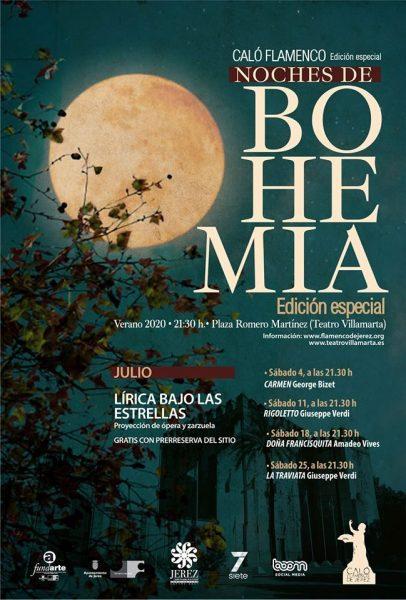 Este es el programa definitivo del ciclo Noches de Bohemia 2020