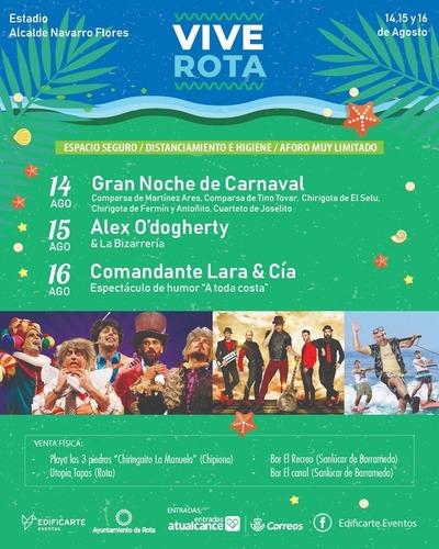 Vive Rota, espectáculos de verano en Rota en el Estadio Navarro Flores